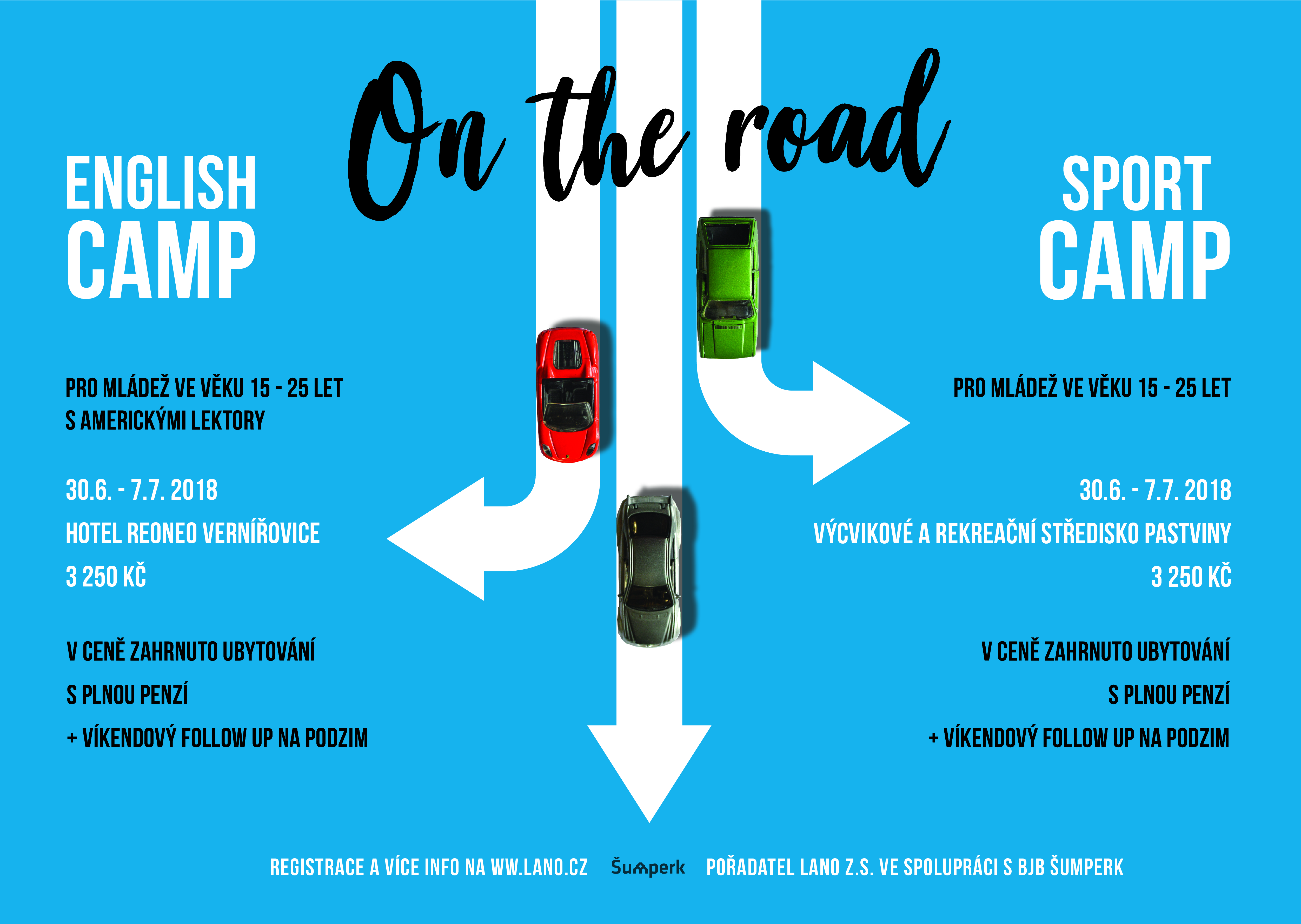 English camp 2018 a Sport camp 2018 – On The Road!